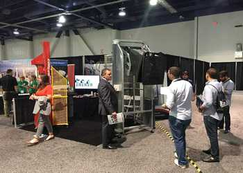 Simpro bin tippers at Waste360 Expo in Vegas