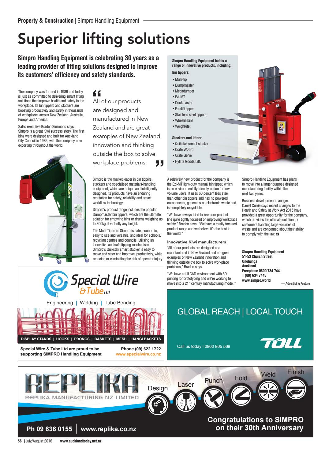 Blog image: Simpro features in Auckland Today magazine
