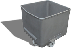 Stainless steel 200-litre EuroBin from Simpro